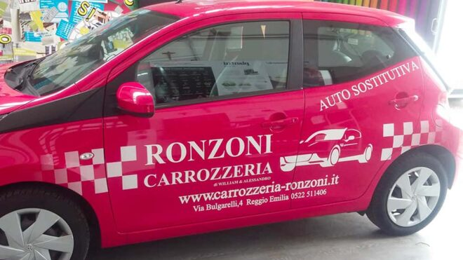 Personalizzazione auto di cortesia