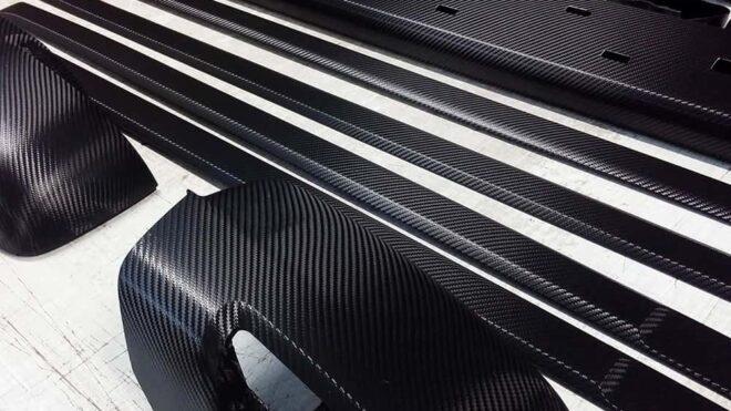 Wrapping carbonio dettagli
