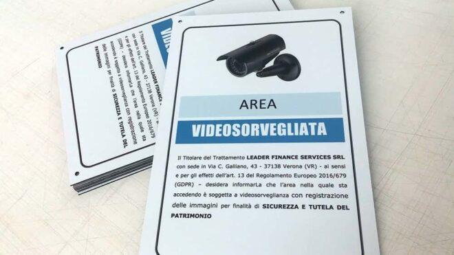 Cartelli videosorveglianza