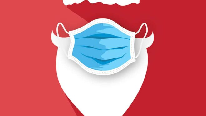 Cartolina Natale Covid